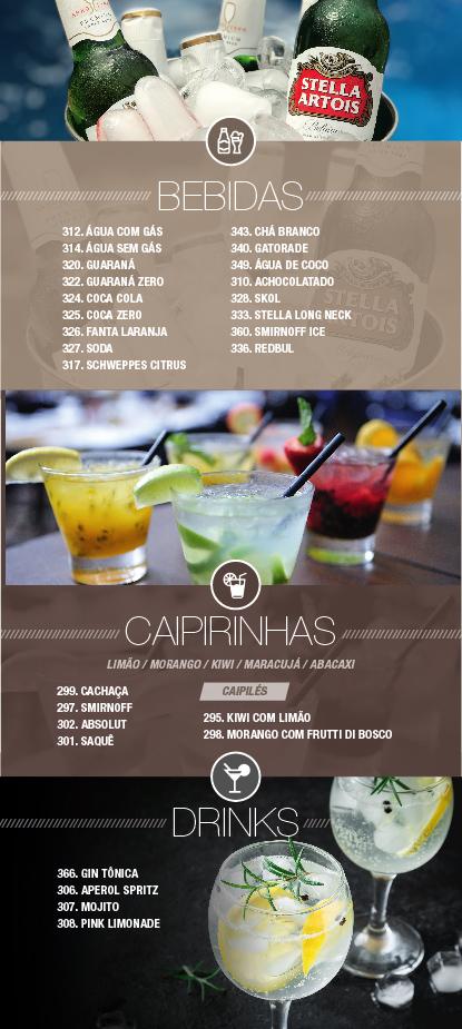 Caribe Motel um dos melhores motéis de São Paulo. Conheça nosso cardápio de bebidas.
